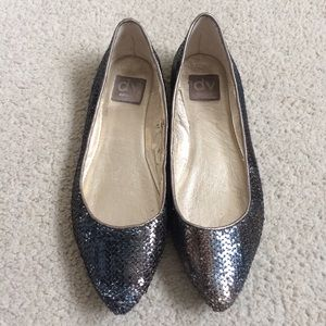Dolce Vita Iridescent Sequin Pointed Toe Flats